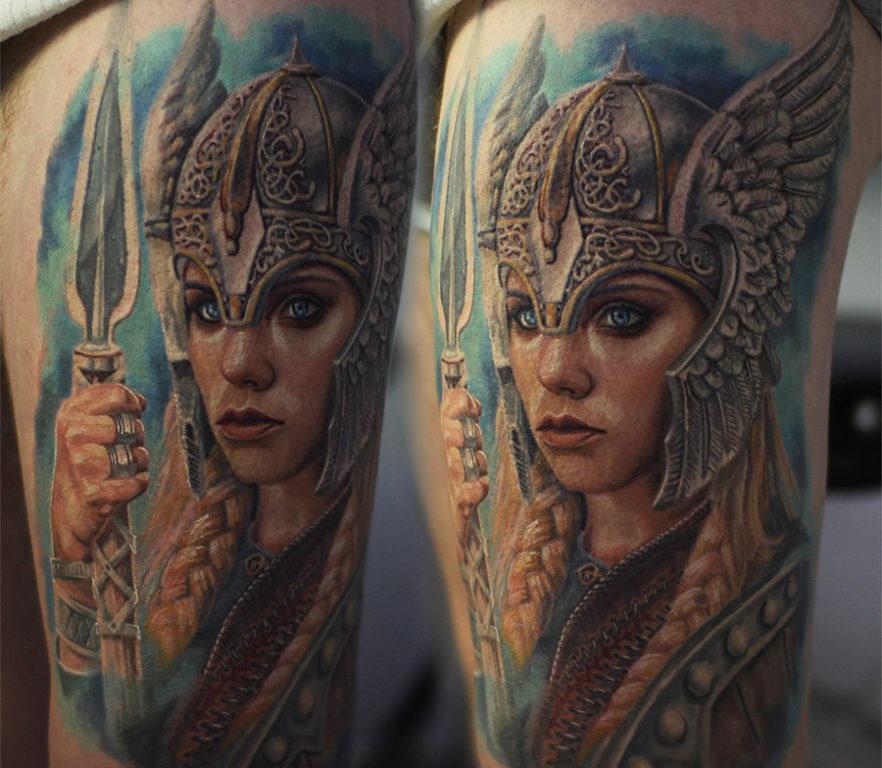 Славянская татуировка - Воительница