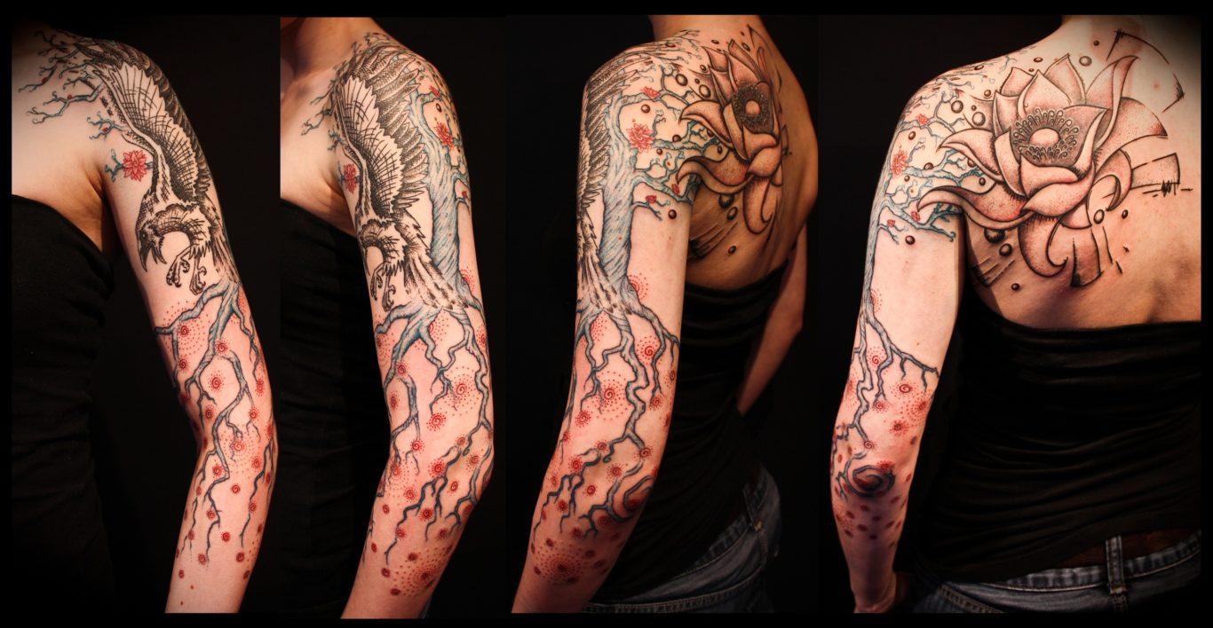 Татуировка древнего дерева