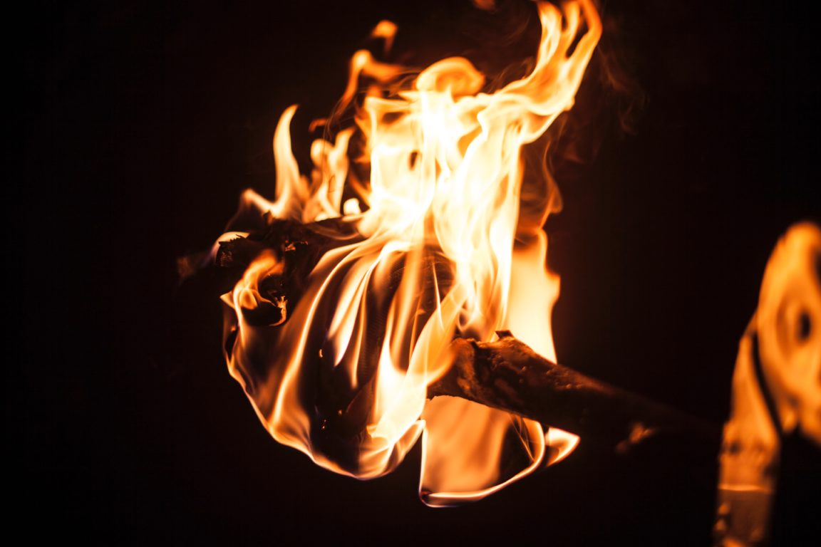 Очищение негатива огнём