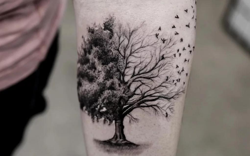 Татуировка дерева - символизирует жизнь
