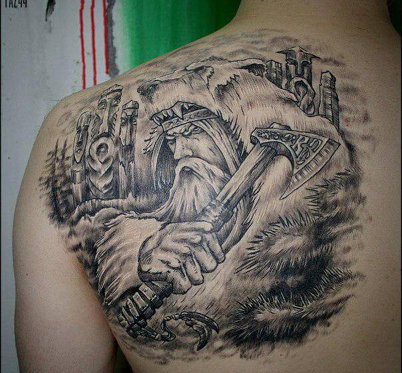 Славянская татуировка - Даждьбог